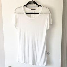 """BNWT white sheer basic top 29"""" in length Brandy Melville Tops Tees - Short Sleeve"""