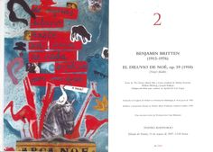 """XLVI Semana de Música Religiosa de Cuenca 2007 Concierto nº 2 Teatro Auditorio """"El Diluvio de Noé"""" de Benjamin Britten"""