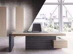 JERA Escritorio de oficina con estantes by Las Mobili #executiveofficedesigns
