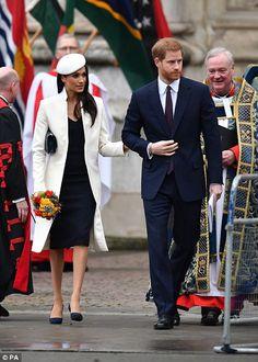 Prince Harry and Meghan Markle leave the service... #meghanmarkle #princeharry