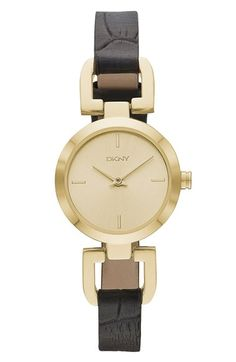 6242a07fb0 DKNY 'Reade' Embossed Leather Strap Watch, 24mm | Nordstrom