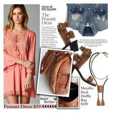 """""""Peasant Dress"""" by seaside-boutique ❤ liked on Polyvore featuring Pierre Balmain, Isabel Marant, women's clothing, women's fashion, women, female, woman, misses and juniors"""