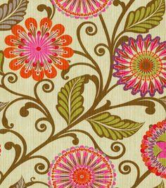 Home Decor 8''x 8''Swatch Print Fabric-HGTV HOME Urban Blosson Berry