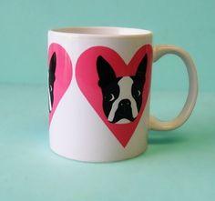 boston terrier love mug