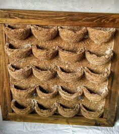 jardin vertical para interiores hecho en fibra de coco, y marco de madera en varios colores