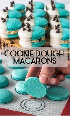 Cookie Dough Macarons #macarons #frenchmacarons #cookiedough #cookies #glutenfree #glutenfreetreats #cookie #treats #macaron #macarontips #macaronrecipe