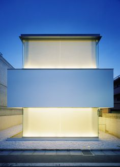 Reminiscent of a light box | Curiosity Architecture | Tokyo