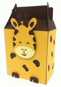 cute giraffe box------------------I think I'm in love with this shape from the Silhouette Online Store!
