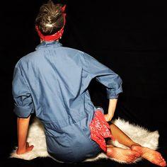 Vintage Rosie the riveter short coveralls find them @mslonelyheartvintage in my instasale shop