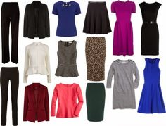Advice on what to wear to minimize a stomach - where to shop and a sample capsule wardrobe of pieces to minimize a stomach.