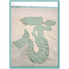 Mermaid Wooden Plaque - Beach Decor Shop