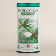 One of my favorite discoveries at WorldMarket.com: The Republic of Tea Peppermint Bark Tea, 36-Count