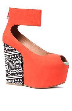 The Francesca Shoe in Papaya
