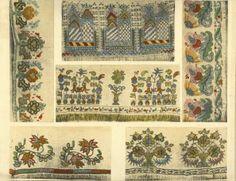 Crimean Tatar embroidery design work.
