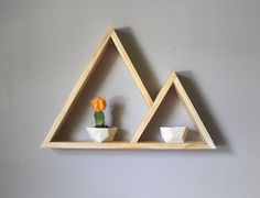 Geometric Shelf . Mountain Shelf . Modern Shelving by GeometricInk