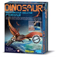 4M Science Dinosaur Excavation Kit Pteranodon - Science & Discovery ... Science toys and craft kits manufacturered by 4M. 4M Toys can be bought at http://inspiringtoys.co.uk/