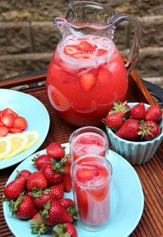 Strawberry Punch - 1 can (46 oz) pineapple juice, chilled - 2 1/4 c water - 3/4 c thawed pink lemonade concentrate - 3/4 c sugar - 1 qt strawberry ice cream - 2 1/2 qts ginger ale, chilled - directions: in a punch bowl, combine first four ingredients. Add ice cream; stir gently. Add ginger ale; stir gently. Serve immediately. Yield: 6 quarts