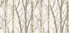 Contemporary Retro Forest Woods Twig Duck Egg Brown Silver Birch Tree Wallpaper | eBay