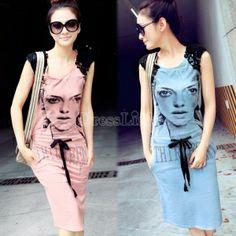 Women's Fashion Sleeveless Slim Dress With Pocket Sundress Long Dress 2 Colors
