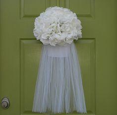 Wedding Wreath - Bridal Veil Wreath - Wedding Shower Decoration
