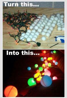 Ping Pong Balls On Lights