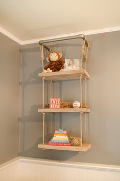 Modern Rope Shelf Ladder from @rhbabyandchild - such a fab touch to a nautical nursery!
