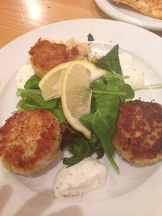 Highly recommended:  Dungeness Crab Cakes, Ramone's Bakery, Eureka, CA