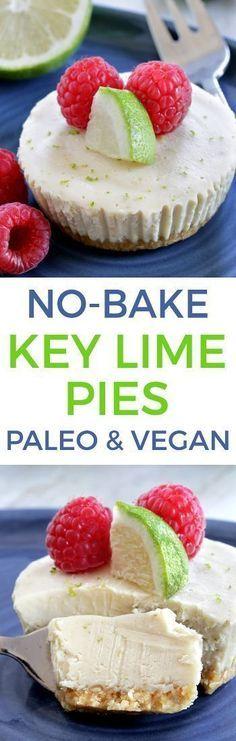 Paleo No-bake Key Lime Pies (vegan, grain-free, gluten-free, dairy-free