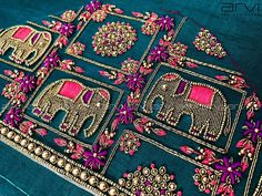 Embroidery Machine Patches Design Patterns Ideas For 2019 Zardosi Embroidery, Hand Embroidery Dress, Embroidery Works, Embroidery Fashion, Hand Embroidery Designs, Embroidery Patterns, Wedding Saree Blouse Designs, Pattu Saree Blouse Designs, Fancy Blouse Designs