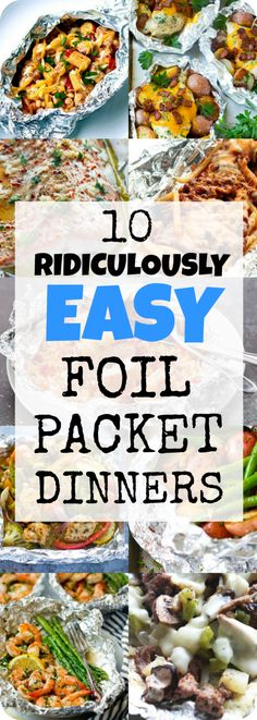 From Salmon to Chicken and Loaded Fries to the Crockpot, these Easy Foil Packet Dinners prove you don't have to compromise taste for convenience! #dinner #easy #foilpacket | www.dontgobaconmyheart.co.uk