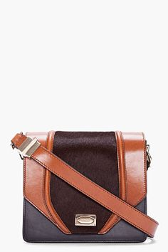 Givenchy - Brown Combo Ponyhair Flap Bag