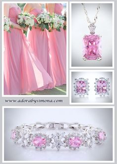 Dazzle your bridesmaids with glimmering cubic zirconia in your preferred colors! All pieces are made to order to match any wedding theme or color scheme and can be purchased separately or as a set for greater value. Contact us at www.adorabysimona.com with the details of your special order.  #jewelry #wedding #bridal #bridesmaids #bridaljewelry #custombridaljewelry #handcrafted #oneofakind #designerjewelry #adorabysimona