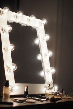 Hollywood Vanity Mirror with Lights, Makeup Vanity Mirror with Lights, Vanity Mirror with Lights Ikea, Lighted Makeup Mirror, Decor, Beauty Room, House Styles, Room Inspiration, Dream Rooms, Bedroom Decor, Girl Room, Room Makeover, Room Decor