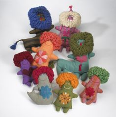 468: Marilyn Neuhart / group of eight dolls < Modern Design, 03 October 2004 < Auctions | Wright