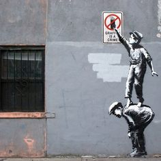 "Banksy - ""The street is in play Manhattan 2013"""