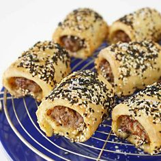 Gluten free sausage rolls - use lactose free cream cheese and omit onion Gluten Free Baking, Gluten Free Recipes, Healthy Recipes, Sausage Roll Pastry, Gluten Free Sausage Rolls, Pastry Recipes, Cooking Recipes, Sausage Recipes, Kitchenaid Standmixer