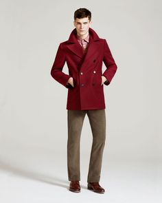 not a fan of the look, but that burgundy pea coat is mine.