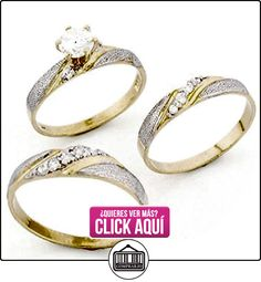10K dos tono oro masculino y femenino Trio CZ anillos de boda juegos  ✿ Joyas para hombres especiales - lujo ✿ ▬► Ver oferta: http://comprar.io/goto/B005N1OMHS