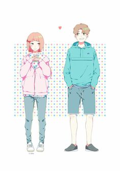 Weightlifting Fairy Kim Bok Joo Fanart, Weightlifting Kim Bok Joo, Swag Couples, Anime Couples, Cute Couples, Korean Illustration, Couple Illustration, Cute Couple Drawings, Cute Couple Art