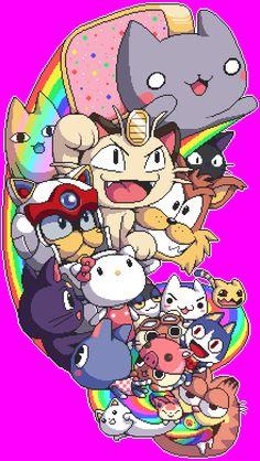 All the fandom cats!