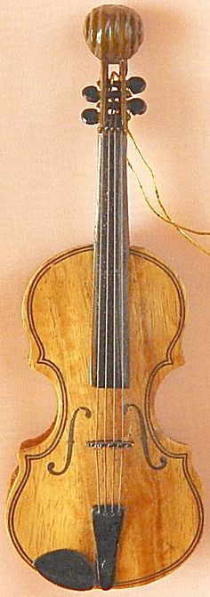 Violin Christmas Ornament