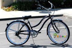 Micargi Pantera Shimano 7-Speed 26″ Women's Beach Cruiser Bicycle Bike, Steel Frame (Black) Was: $389.95   Is: $195.44