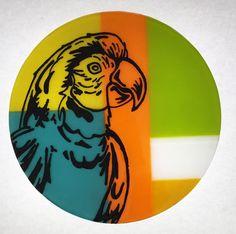 Paint on glass 25 cm * 25 cm
