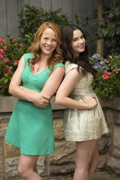 Katie Leclerc as (Daphne) & Vanessa Marano as (Bay) #SwitchedAtBirth