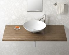 ナチュラルウッドカウンター 手洗い器 ベッセルタイプ イメージ Pale Orange, Washroom, Home Decor Inspiration, Ideal Home, Kitchen Dining, Sink, Minimalist, Interior, Rest Room