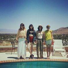 Blogger Dylana Suarez (far left) wearing #MinkPink's California Dreaming Top. View it up close at our store here: http://www.shopkoshka.com/new-in/mink-pink-california-dreaming-crop-top/