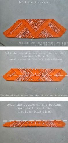 how to fold a bandana for a head band