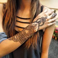 arm henna design