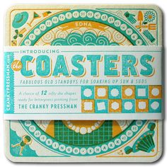 Love these, simply wonderful!  http://www.behance.net/gallery/The-Coasters/944534