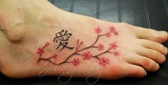My current obsession and dream - a cherrry blossom tattoo on my foot with the Mother-Daughter in Chinese, too bad I am such a wimp with pain....